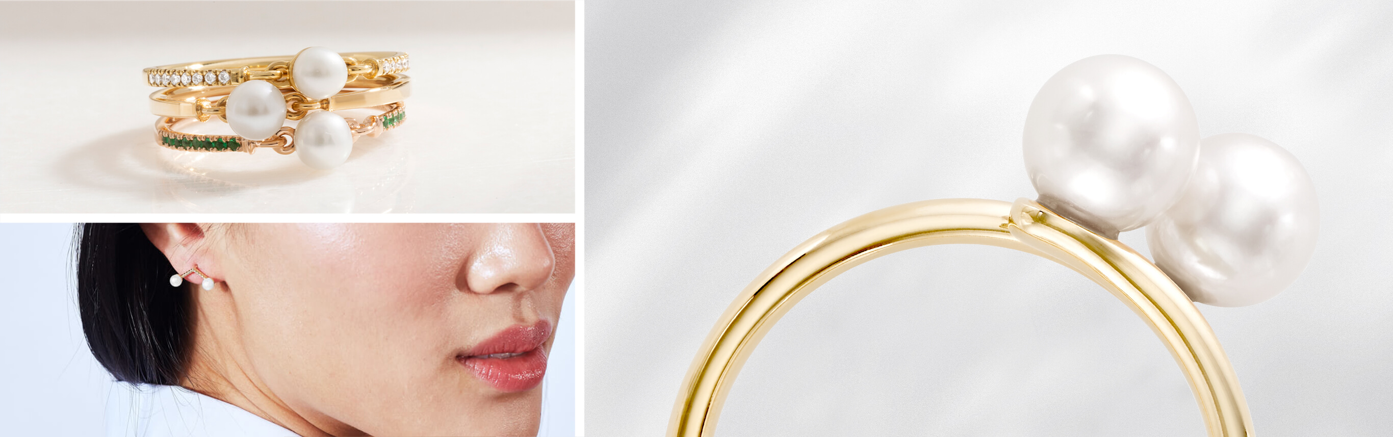 Jewellery Pieces from Ecksand's Pure Pearl Collection