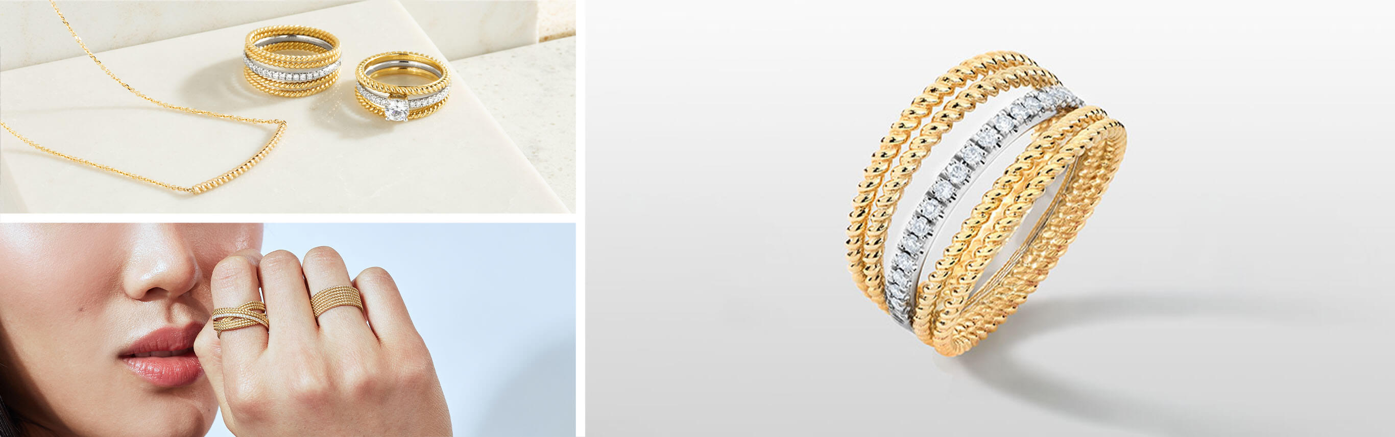 Jewellery Pieces from Ecksand's Tresses Collection