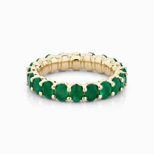 Front View of the Ecksand Eternity Emerald Eternity Ring