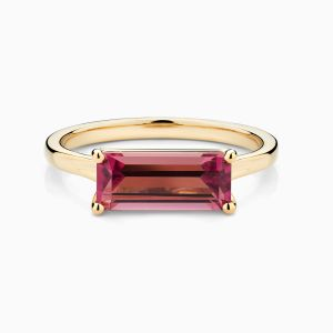 Front View of the Ecksand Pure Gemstone Baguette Cut Tourmaline Ring