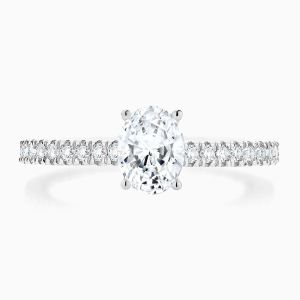 Ecksand Solitaire Oval Engagement Ring Face