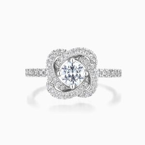 Ecksand Diamond Flower Wedding Ring Face