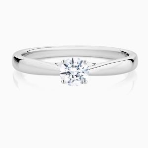 Ecksand Secret Heart Round Diamond Engagement Ring Face
