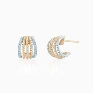 Ecksand Diamond Hoop Earrings Face