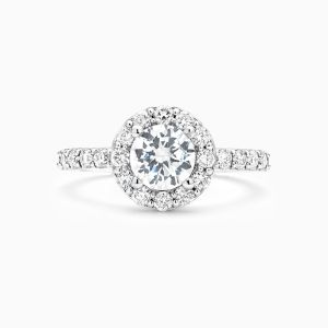 Ecksand Round Halo Engagement Ring Face