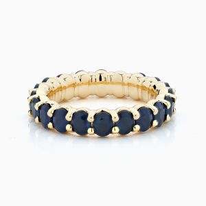 Front View of the Ecksand Pure Gemstone Blue Sapphire Eternity Band