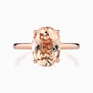 Ecksand Oval Morganite Ring 1713M Face