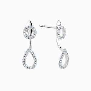 Ecksand Nude Diamond Pear Earrings Interchangeable face