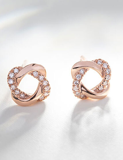 Front View of The Ecksand Showcase Diamond Jacket Earrings In Yellow Gold