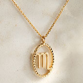 The Ecksand Tresses Gold Zodiac Necklace with Scorpio Pendant