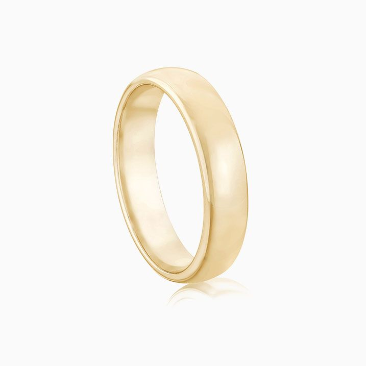 Front View of the Ecksand Wedding Ring in Yellow Gold