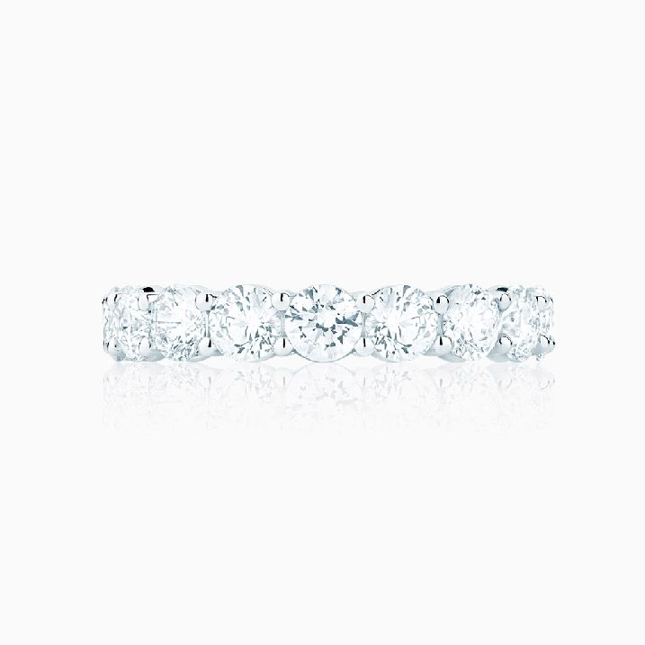 Front View of the Ecksand Eternity Ring in White Gold