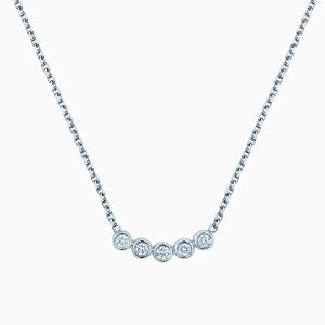Ecksand Bezel diamond row necklace | Ecksand Showcase Collection