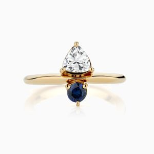Ecksand sapphire diamond engagement ring face