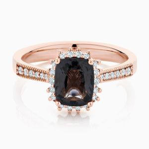 Ecksand Halo Spinel Engagement Ring Face