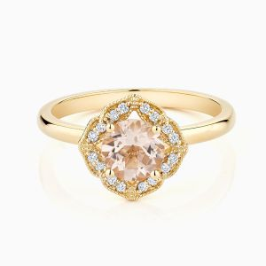 Ecksand Vintage Morganite Ring Face