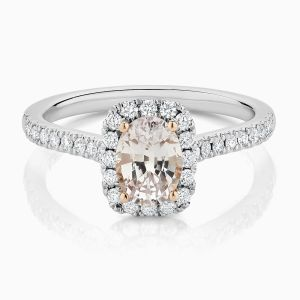 Ecksand Pink Sapphire Engagement Ring Face