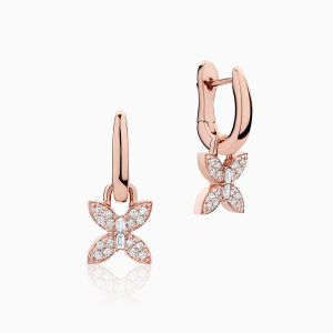 Front View of the Ecksand Wild Mini Diamond Pavé Butterfly Dangle Earrings