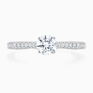 Ecksand Secret Heart diamond solitaire engagement ring 0.50 ctw. face