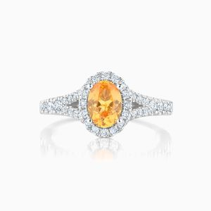 Ecksand Oval Halo Engagement Ring Face