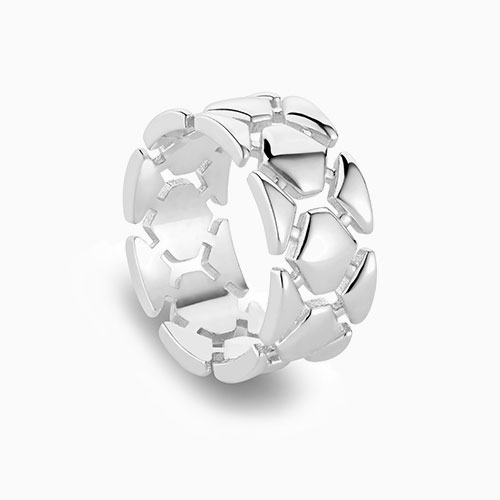 Front View of the Ecksand Pure Cuff Ring in Sterling Silver