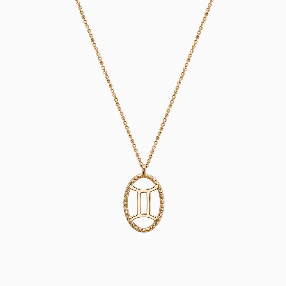 Ecksand Tresses Zodiac Necklace with Gemini Pendant