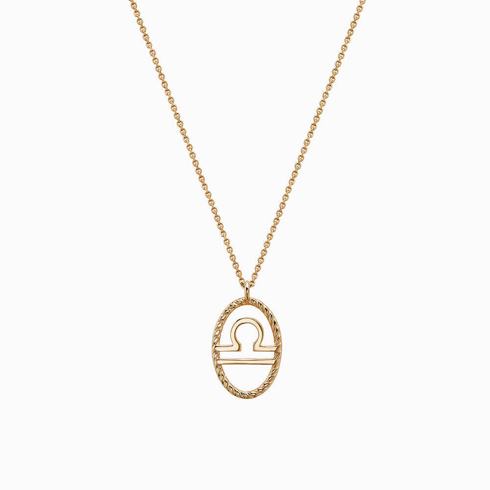 Ecksand Tresses Zodiac Necklace with Libra Pendant