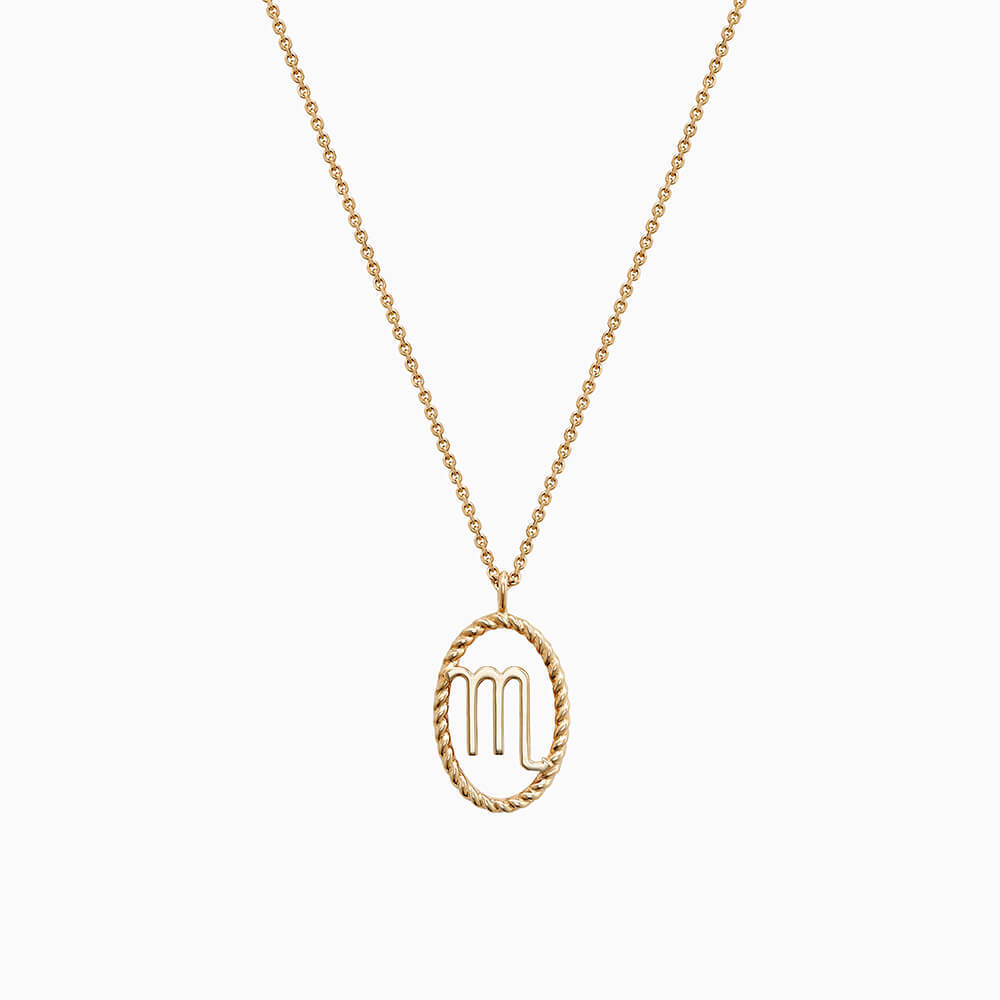 Ecksand Tresses Zodiac Necklace with Scorpio Pendant