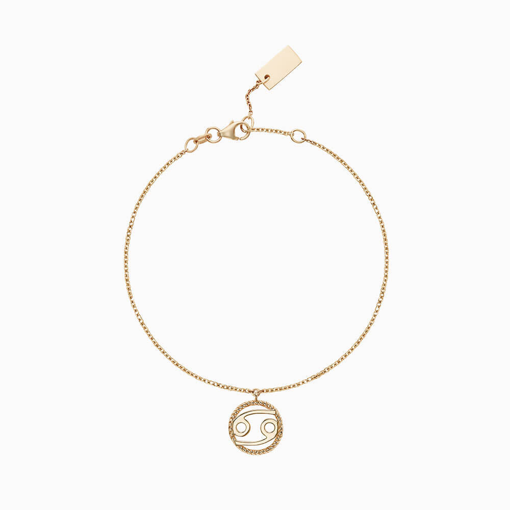 Ecksand Tresses Zodiac Bracelet with Cancer Pendant