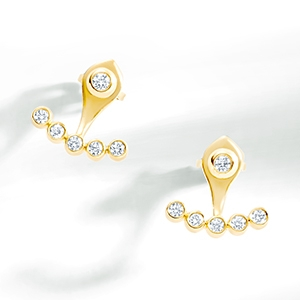 The Ecksand Showcase Diamond Jacket Earrings In Yellow Gold